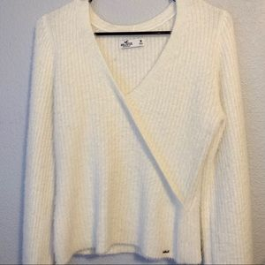 Hollister fuzzy crossover sweater